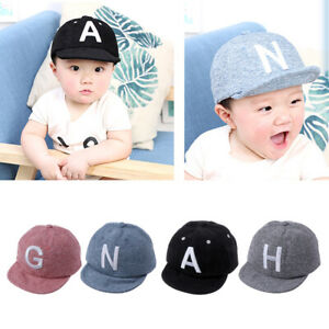 7caca9a940935 Summer Autumn Letter Baby Baseball Caps Hip Hop Adjustable Snapback ...