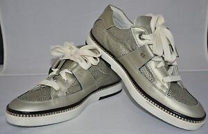 1da3390d725 Image is loading Jimmy-Choo-Stampa-Silver-Sneakers-Shoes-Size-43