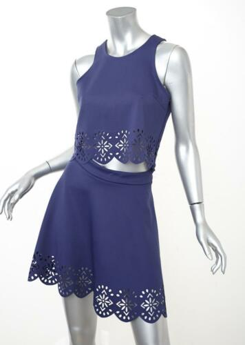 Nwt Co Rok Crop ord Friends Womens S Set Lovers Nieuw Top Scalloped Navy 7fqUx