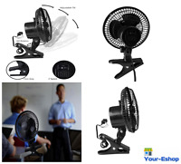 Clip On Mini Electric Cooling Fan Portable 6 Inch Adjustable Small Table Desk