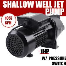 750w 1 Hp Shallow Well Jet Pump 110v Water Jet Pump Heavy Duty Pump Motor Usa