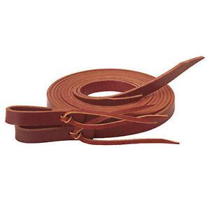 Western-Brown-Leather-Set-of-Split-Reins-with-Water-Loop-96-034-Long
