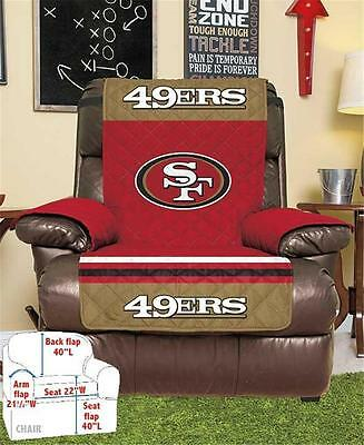 SAN FRANCISCO 49ERS FOOTBALL TEAM ARMCHAIR RECLINER FURNITURE PROTECTIVE COVER