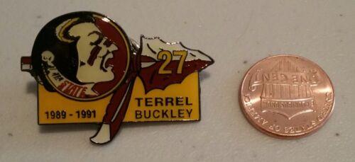 TERREL BUCKLEY #27 FLORIDA STATE SEMINOLES LAPEL PIN