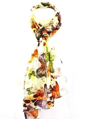 Fashion Women Ladies Butterfly Print Scarf Stole Neck Tie Chiffon Scarves