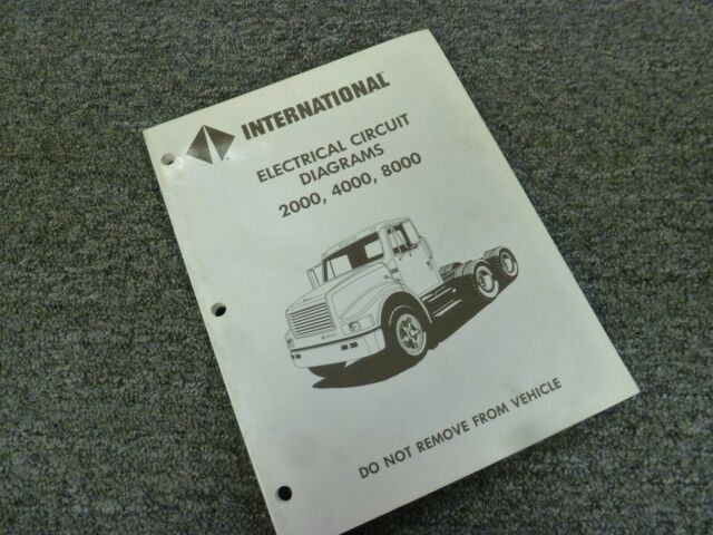 1998 International 2554 2574 2654 2674 Truck Electrical Wiring Diagrams Manual