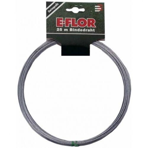 E-FLOR Bindedraht verzinkt 1,2 mm 25 m Draht Blumen-Wickeldraht Blumendraht