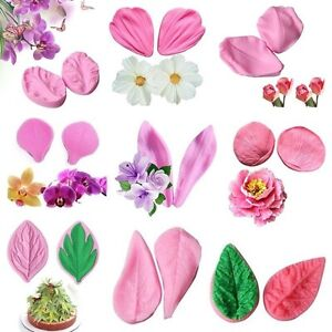 Flower-Petal-Leaf-Silicone-Fondant-Mold-Cake-Decor-Sugarcraft-Baking-Mould-Tools