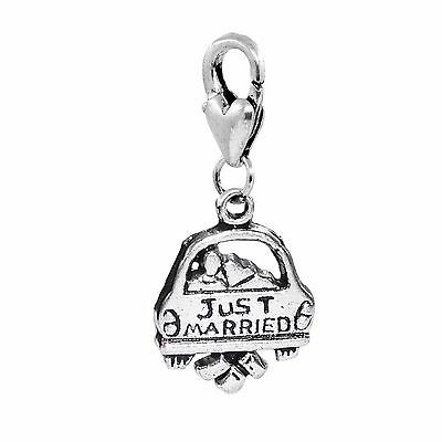 5PCs Just Married Car Newlywed Wedding Honeymoon Clip On Charm for Bracelets