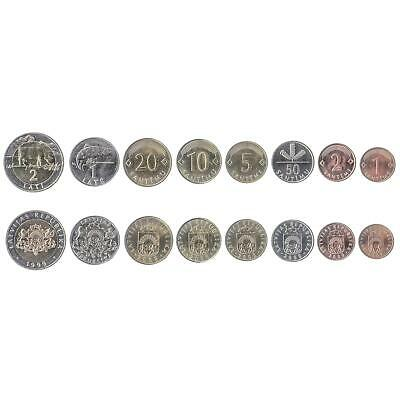 1991-2013 5 LITAI OLD CURRENCY 9 COINS FROM LITHUANIA UNC 1 CENTAS
