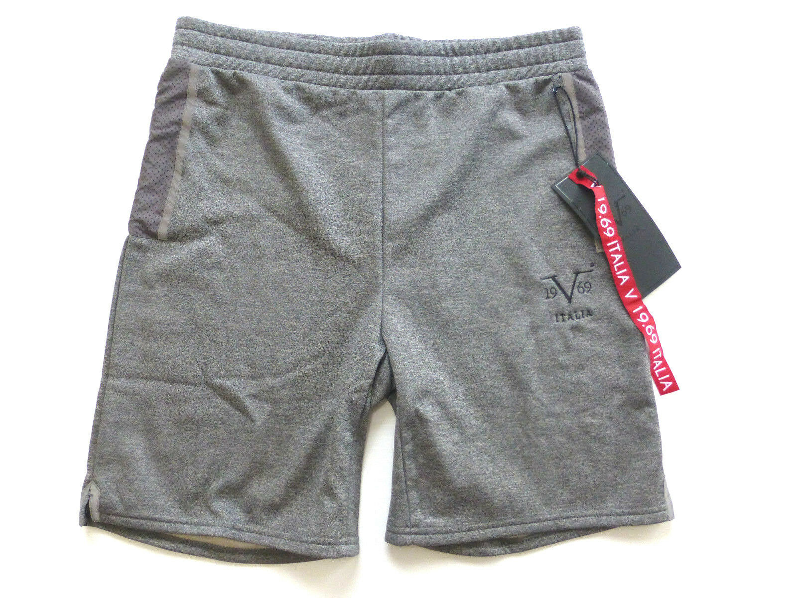 Versace V 19.69 Italia Mens M Performance Fleece Mesh Panel Knit Shorts New