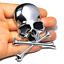 Crossbones-Sticker-Skull-Emblem-Skeleton-Badge-Car-Motorcycle-Helmet-3D-Emblem miniature 1