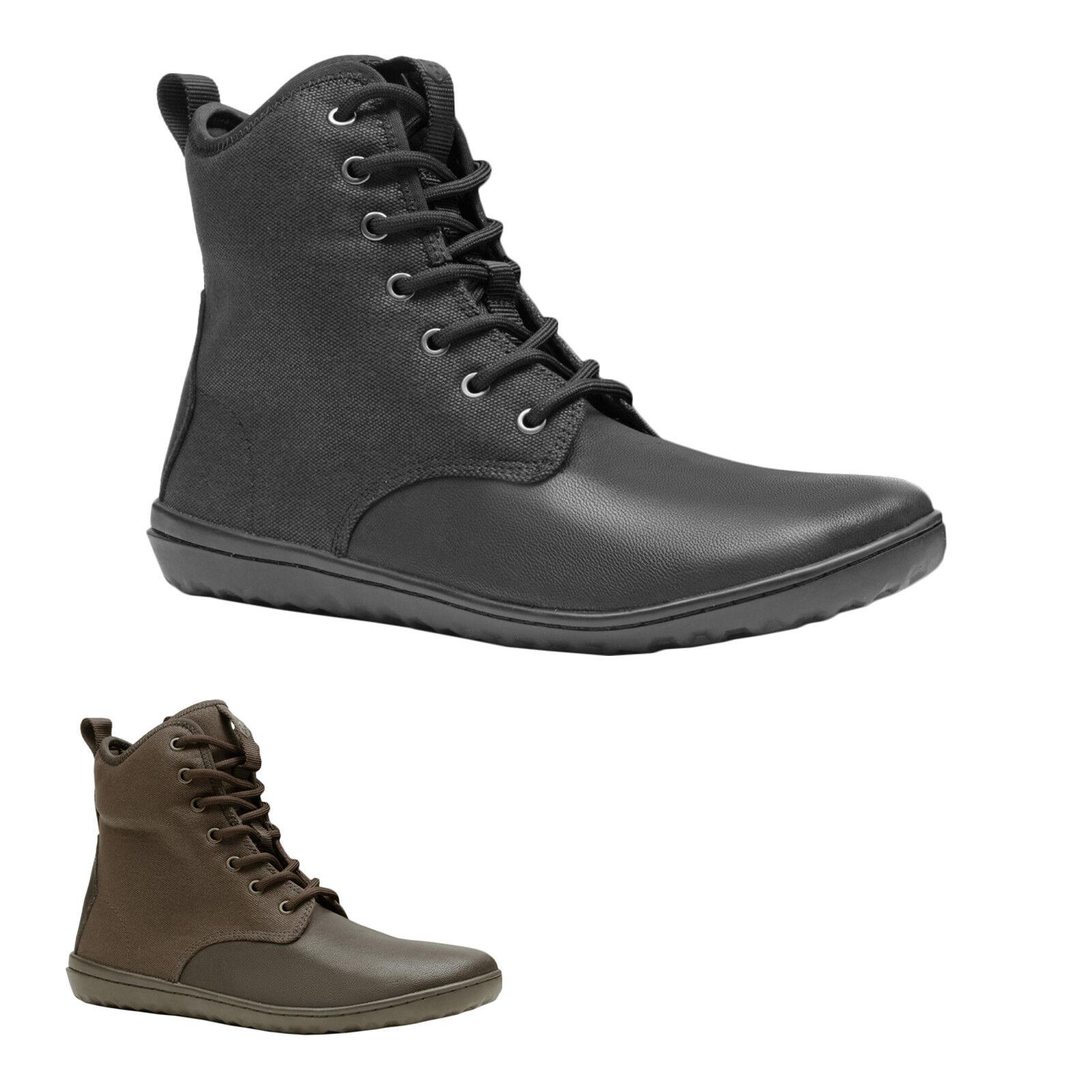 Vivobarefoot Scott 2.0 Leather canvas Lace-up foldable botín señores botas