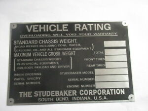 Panneau Type S39 Panneau Studebaker Oldtimer Camion Kxdfkwfj-07221950-671950741