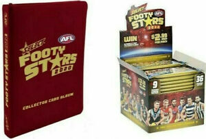 2020-SELECT-AFL-FOOTY-STARS-FACTORY-SEALED-BOX-36-PACKS-ALBUM-FOLDER-BINDER