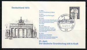 Germany-1973-cover-SST-Sonderstempel-Bonn-Konig-Olav-Leonid-Breschnew-in-Bonn