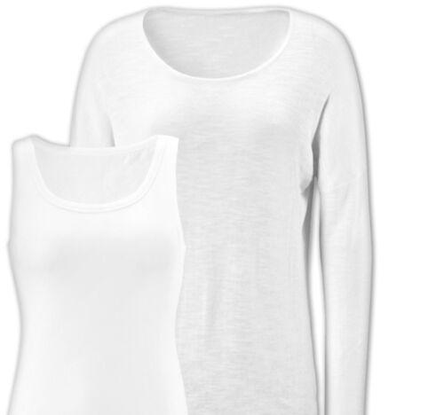 Damen Pullover mit Top 2er Set Shirt Freizeit Rundhals Öko-Tex