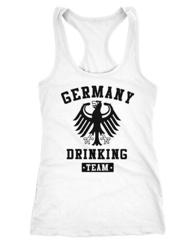 Damen Tanktop Germany Drinking Team Adler Racerback Moonworks®