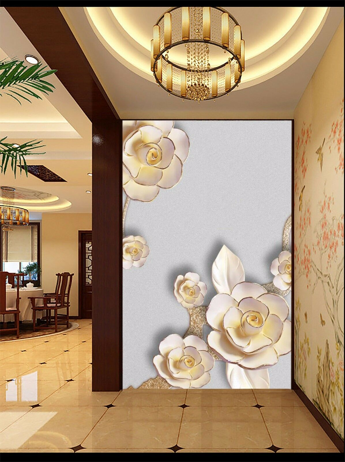 3D Carved flower 364 Wall Paper Wall Print Decal Wall Indoor Murals Wall US