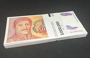 YUGOSLAVIA 50,000 50000 Dinara Hyperinflation Issue 1994 P-142 UNC Uncirculated