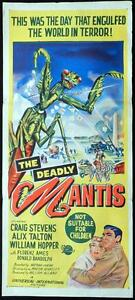 THE-DEADLY-MANTIS-1957-Giant-Insect-RARE-Daybill-Movie-poster