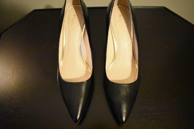 Coach Leather Black Heels Size 8.5