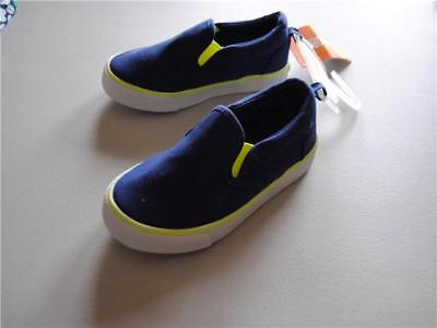 NWT Gymboree Boy Sneakers Shoes Blue slip on 4,5,6,7,9,10,11,12,13,3