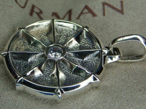 David Yurman Sterling Silver Dharma Wheel White Di