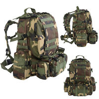 55l Outdoor Military Tactical Backpack Rucksack Camping Bag Hiking Camo on sale