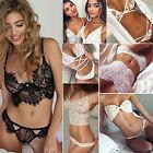 Sexy Women Bandeau Bandage Lace Crochet Bikini Set Push Up Bra Swimwear Swimsuit