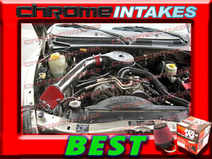 97-03 DODGE DAKOTA DURANGO 3.9L V6 5.2L 5.9L V8 COLD AIR INTAKE KIT Red Blue 2F