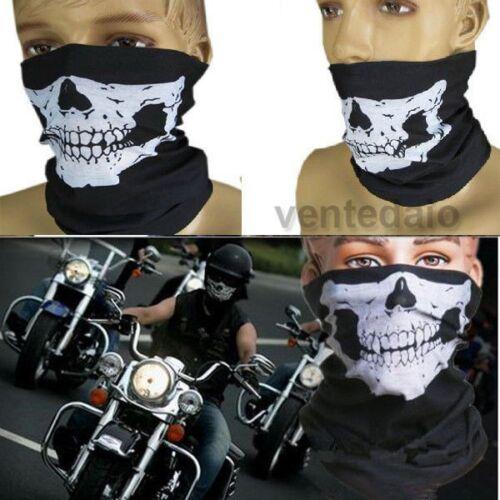 Haube Totenkopf Ghost Schädel Airsoft Paintball Motorrad Ski Halsband Maske