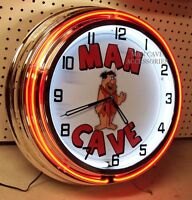 18 Man Cave Double Neon Clock