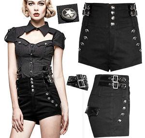 34222c41e8133 Short taille haute gothique lolita burlesque pin-up fashion ...