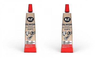 350° Rot 21g Sonstige Autopflege & Aufbereitung 2x K2 Silikon Silikon Hochtemperatur Dichtmasse