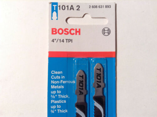 "4/"" 14TPI Clean Cuts in Non-Ferrous Metals T101A 2 Bosch 6 Jigsaw Blades"