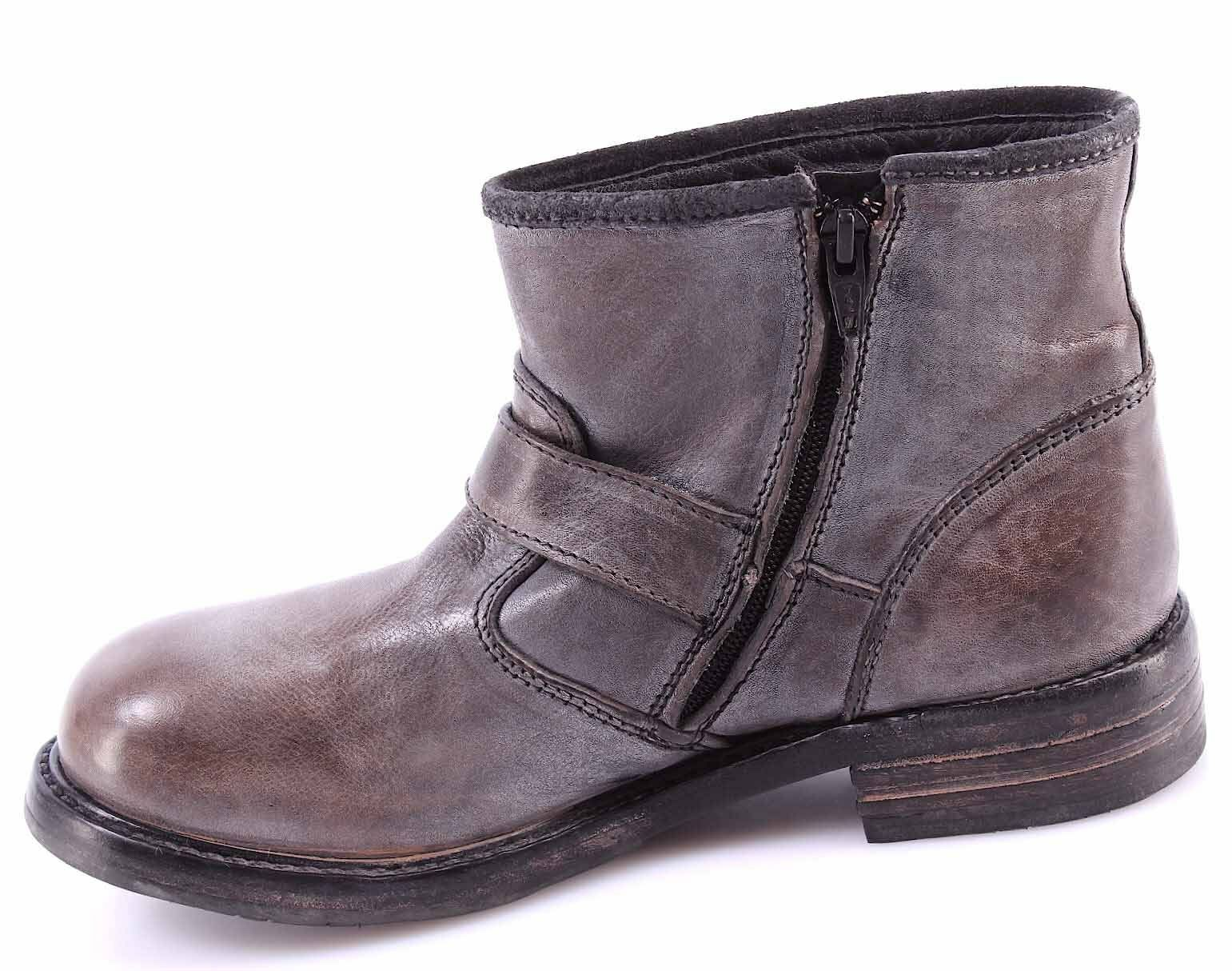 Women's shoes Ankle Boot MOMA 75403-CG Cusna silver Leather Leather Leather Silver Vintage New 4e64c1