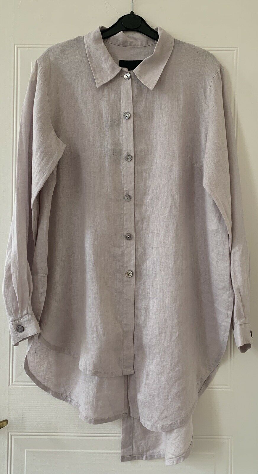 Bitte Kai Rand Linen Maxi Hemd In Lilac Größe DK34