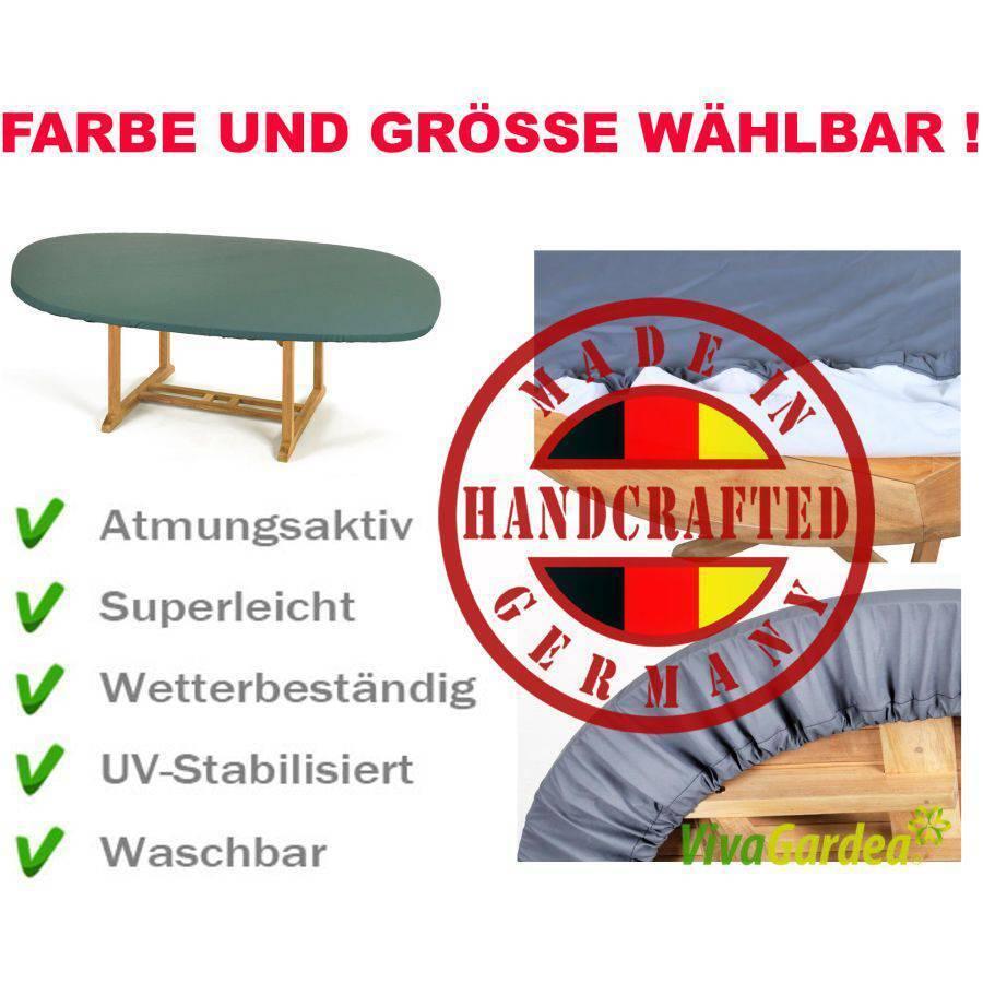 Made in Germany capó con elástico para súperficie de mesa oval Color y tamaño elegibles