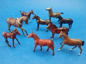 Vintage Bundle of LEAD HORSES Cherilea Britains John Hill etc