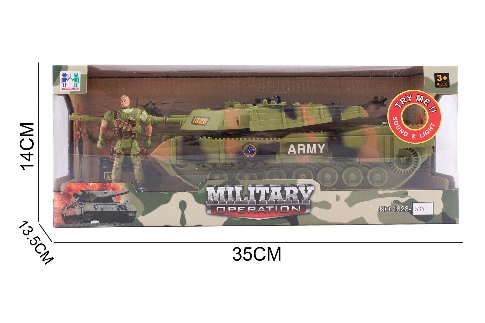 Army Tank  Military Soldier Man Gunner Kids Toy War Games Beast Patrol Cannon