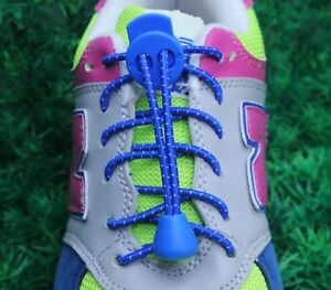 Elastic-Shoelaces-Lock-Laces-No-Tie-Triathlon-Running-Jogging-Elasticated-Lace