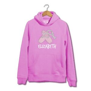 dd57a5fea3263 Details about Personalised Customised Custom Name Ballet Dancing Shoes  Themed Hoodie Jumper