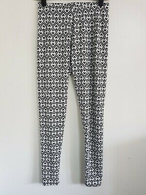 Ex Yours Plus Size 14-28 Elastic Waist Spotted Stretchy Leggings Trousers Black