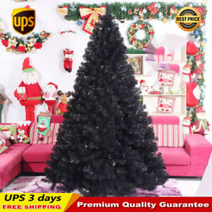 UPS-3-Days-3-4-5-6-7-8-ft-Black-Artificial-Christmas-Tree-Indoor-Home-Decoration