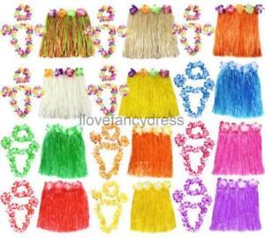 40cm Hawaii Lei Set Luau Kostum Verkleidung Fasching Karneval