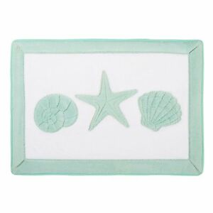 Sculpted Seashells Amp Starfish Memory Foam Bath Mat 24x17