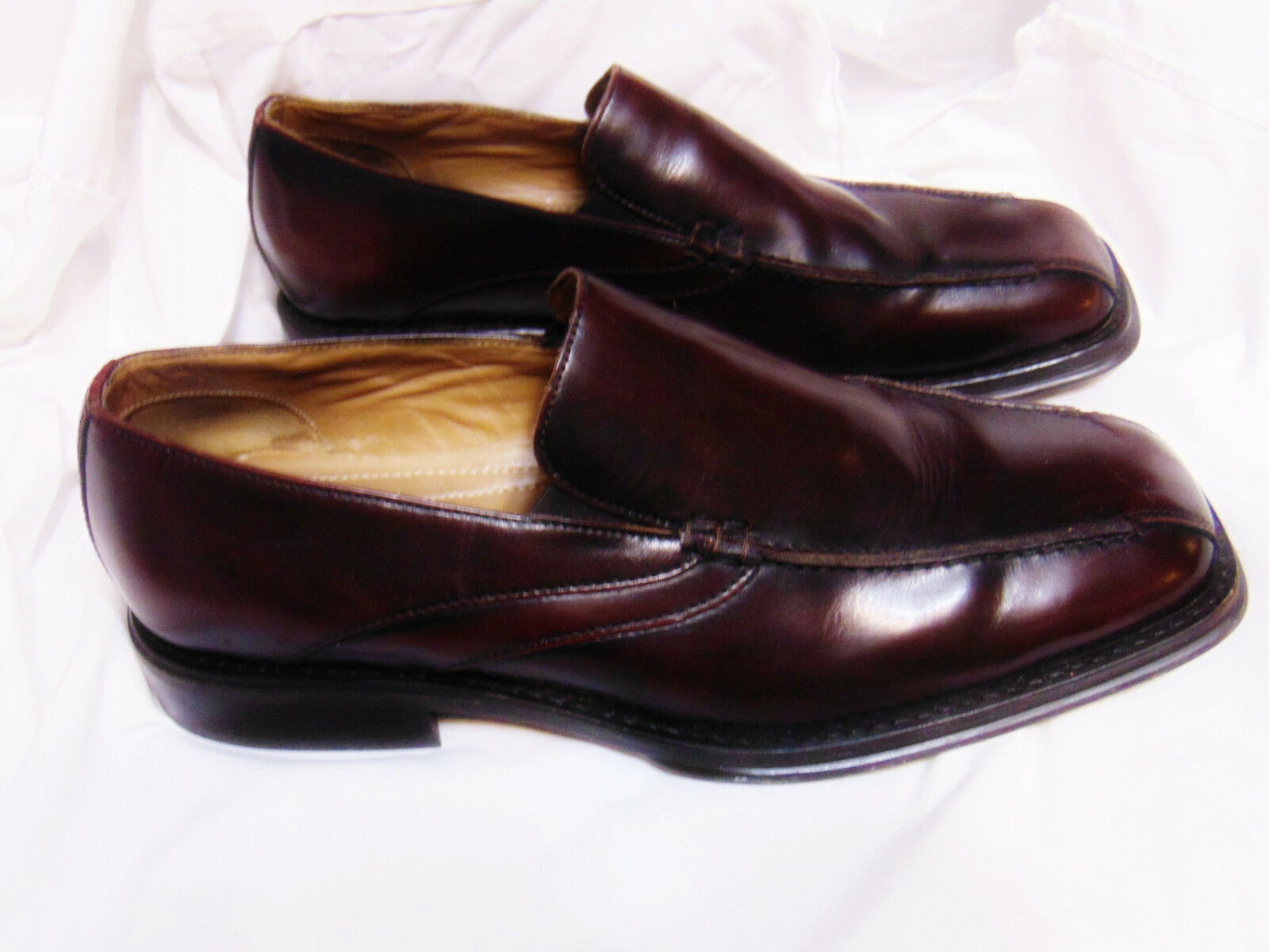 FRANCO FORTINI Mens Loafer Style Shoes 11.5 M Dark Brown Slip On Leather 321032