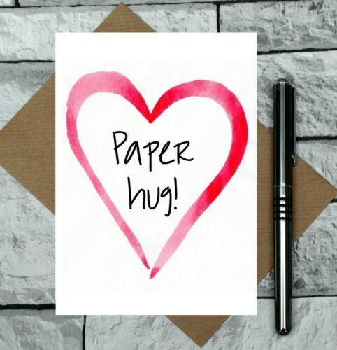 thinking of you card Paper hug card convalescence card get well card