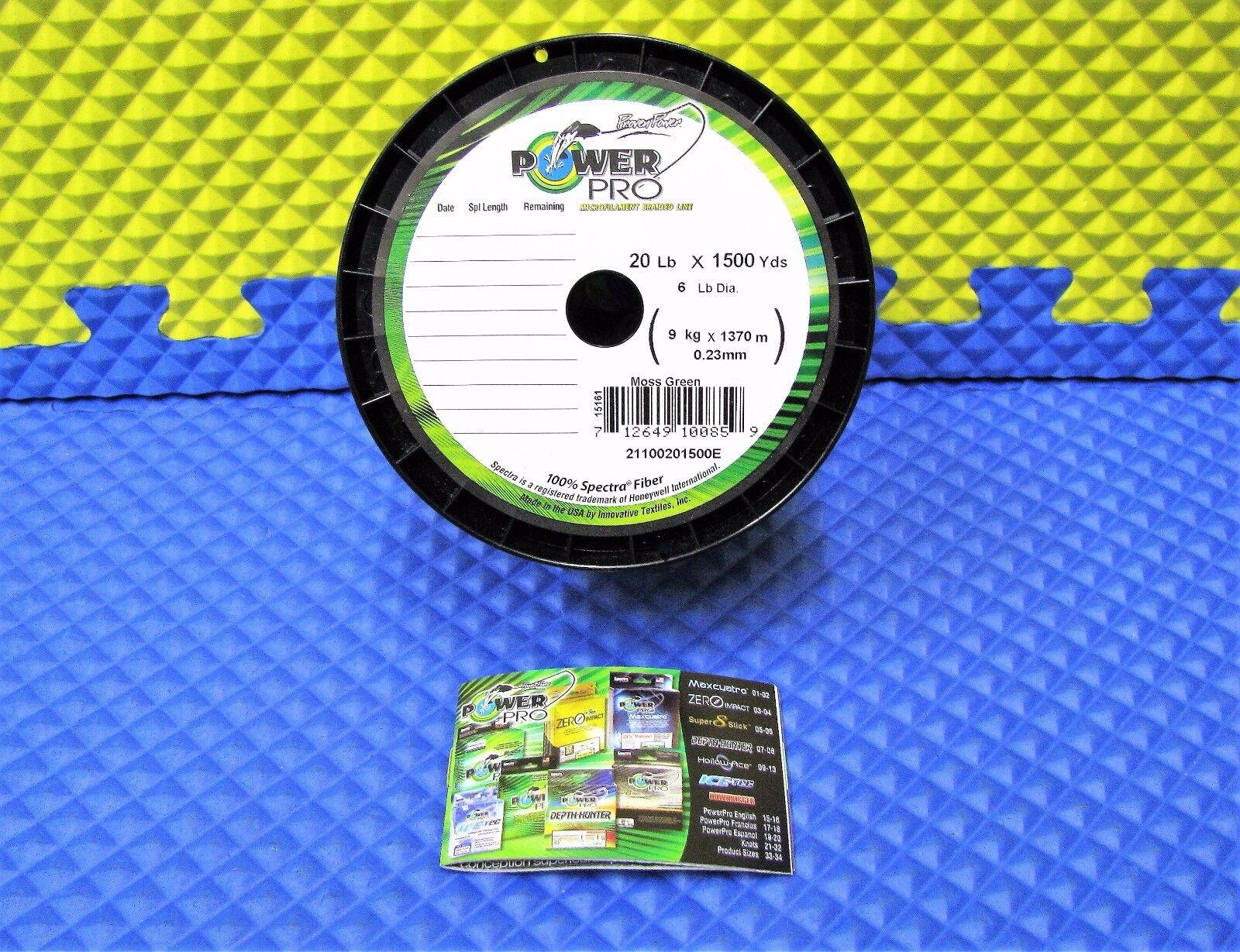 Power Pro Microfilament Braided Fishing Line 20 lb. 1500 yds. Moss Green 15161